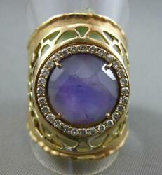 Antique 2.42ct Diamond And Amethyst 18kt Yellow Gold 3d Filigree Handcrafted Ring