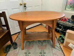 Charles Limbert Single Oval Library Table 146 Arts And Crafts Great Cut Outs