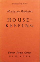 Marilynne Robinson / Housekeeping Uncorrected Proof 1st 1980