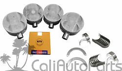 93-96 Honda Prelude 2.2 H22a1 Dohc Engine Pistons And Rings Main Rod Bearings Set