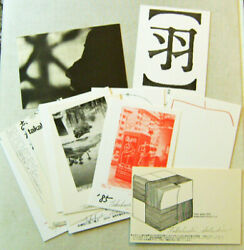 Japanese Concrete Poetry / Set Of Sixteen Artist Postcards All Signed 1st Ed