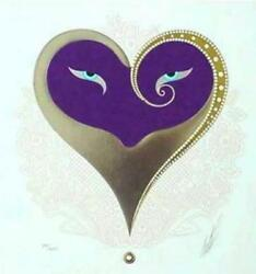 Erte Serigraph Heart I Pencil Signed And Numbered Look At My Store