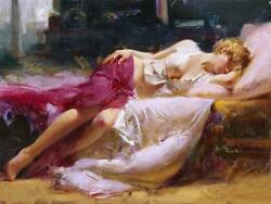 Pino Dreaming In Color Giclee On Canvas Hand Signed And Numbered 28 X 38 Coa