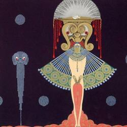 Erte Russian 1892 - 1989 Salome Serigraph With Embossing And Foil Stamping