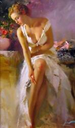 Pino Angelica Giclee On Canvas Hand Signed And Numbered Size - 42 X 24 W/coa