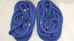 New Pair 2 3/4 X 40and039 Double Braid Nylon Dock Line Mooring Anchor Rope Boat