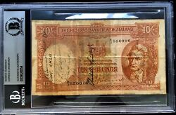 Charles Lindbergh Signed Autographed Currency Bas Beckett Authentic