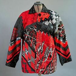 Artisan Art To Wear Hand Made Ooak Quilted Patchwork Jacket Boxy Coat New Xl 1x