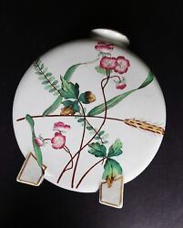 Christopher Dresser Minton Moon Flask Butterfly Roses 1870s Aesthetic Movement