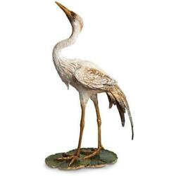 Jay Strongwater Nelson Crane On Lily Pad Figurine SDH1884 280