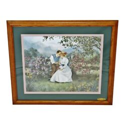 Vintage Signed Glynda Turley Sweet Nothings Limited Edition Lithograph W/ Coa