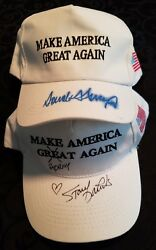 President Donald Trump Signed Campaign Hat Stormy Daniels Signed Maga Hat