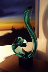 A Stunning And Rare Archimede Seguso Of Murano Huge Signed Glass Sculpture.