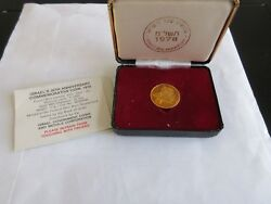1978 Israel 30th Anniversary Proof 12g Gold 900 Ngc Pf 69 Ultra Cameo