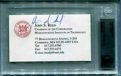 Signed Business Card John Reed Chairman Of Nyse And Citigroup