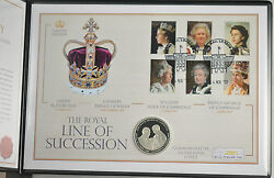 Cook Islands 2013 Royal Line Of Succession  .925 Silver Proof Dollar Coin Cover