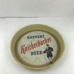 Ruppet Knickerbocker Beer Tin Collectible Tray - New York's Famous Beer