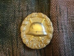 German Ww1 Imperial Wound Badge In Gold. New Repro Uniform Badge