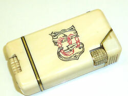 Vintage Liftarm Lighter - Made Of Bones - With Motive On Both Sides - Very Rare