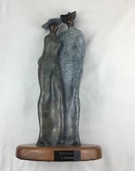 Bronze Embrace Artist Guilloume Master Of Bolismo 15 Tall X 7.5 Wide
