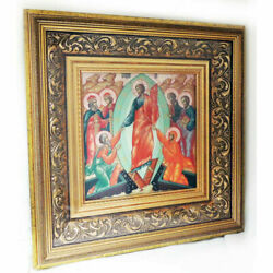 Decent Into Hell - Museum Quality Hand Painted Icon On Mother Of Pearl Gold 14