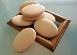 Large Wooden Pebbles Natural Smooth - Home Decor Arts And Crafts Wedding Wood Fsc