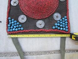 1800-1900s,tibet 45lx11h115x28cm,old Coins,coral Hats, Blue Stones,nice Rare