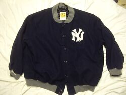 Mitchell And Ness Yankees Jacket Pre-owned Size 64 + Cap Size 7 5/8 New With Tags