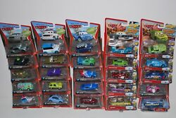 New Lot Of 174 Disney Cars Diecast Snor Rod Flo Sarge Sally King Racers