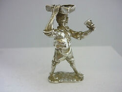 Stunning Rare Vintage Sterling Silver Victorian Cake Seller Figurine Statue