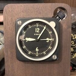 Longines Wittnauer Lecoultre Made 7 Jewel Cal 201m A-7 In Stand Aircraft Clock
