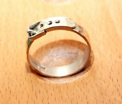 Uk Hand Made Forged Sterling Silver Belt Ring 3.25 Grams Size S