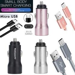 For Huawei Y6 2019 Y6p Y6 Pro Y5p In Car Charger Dual Usb Adapter Fast Charging