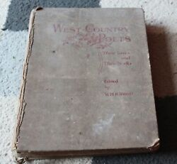 West Country Poets Whk Wright Kearley 1896 Vintage Antique Bookandnbsp1st Edition