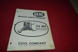 Gehl 115 Grinder Mixer Mix All Feed Mill Dealers Parts Book Mfpa