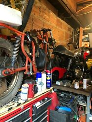 Reduced - 2 motorcycles vintage 1970 BSA motorcycle parts motor works for one