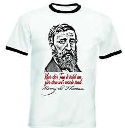 Henry David Thoreau Nur Der Tag Zitate - BLACK RINGER COTTON TSHIRT
