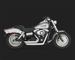 Vance And Hines Exhaust - Short Shots Staggered Chrome - 06-11 Dyna - 17217