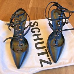 Schutz Black Heels Size 6- Designer Shoes $30.00