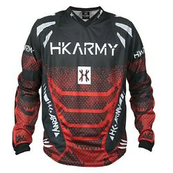 New Hk Army Paintball Freeline Free Line Playing Jersey - Fire Red - Small S