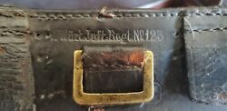 Pre-wwi Imperial German Leather Ammo Pouch For 1871/84 Mauser Wiirt. Juft Regt