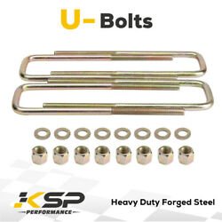 11.5 Square U Bolts Extra Long 2.5 Wide 9/16 Ubolt W Hardware For Gmc Chevy