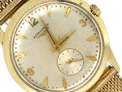 34mm Longines 14k Yellow Gold Case Silver Dial Vintage Collectible Must See`