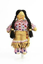 Antique Beaded Leather Native American Indian Plains Tribe Doll Ca1900