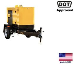 GENERATOR Trailer Mounted - Commercial - Multi-Voltage - 1 & 3 Phase - 20 kW