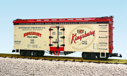 Usa Trains G Scale Us Reefer Car R16424 Kingsbury Pale Beer Cream/red