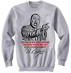Martin Luther King Kein Problem - NEW COTTON GREY SWEATSHIRT