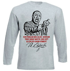 Martin Luther King Kein Problem - NEW COTTON GREY TSHIRT