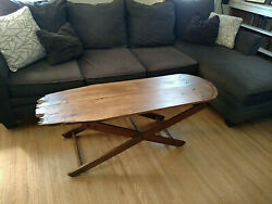 Antique Wooden Ironing Board By Paris Manufacturing Company Coffee Table