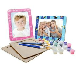 Vhale 4 Set Paint Your Own Picture Photo Frames Arts And Crafts Kids Party Favor